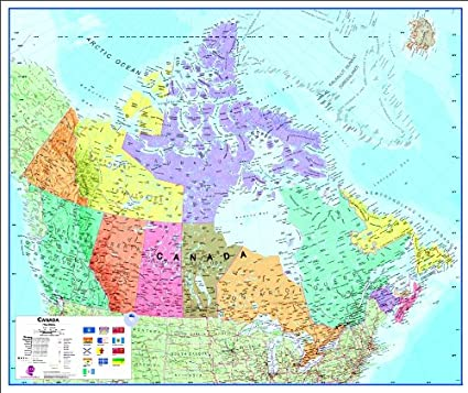 Map Of French Canada.Maps International Canada Bi Lingual French English Map