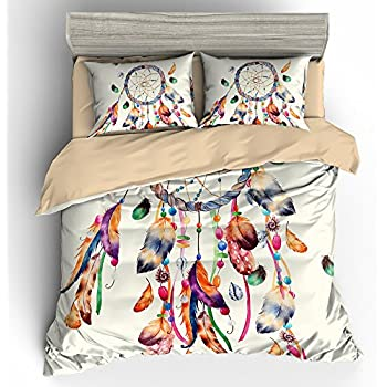Amazon BOMCOM 40D Digital Printing Ethnic Hand Drawn Watercolor Awesome Dream Catcher Comforter