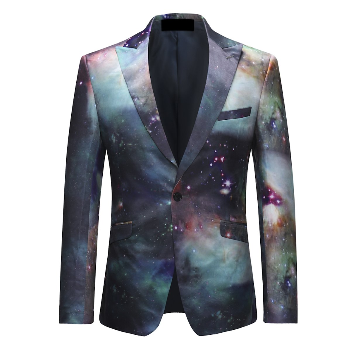 YFFUSHI Mens Floral Printed Sport Coat Slim Fit One Button Jacket Blazer for Party/Banquet/Nightclub