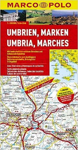Marco Polo Karten Italien 8 Umbrien Marken 1 200 000