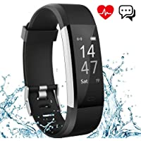 Fitness Tracker Aneken IP 67 Waterproof Smart Bracelet with Heart Rate Monitor Activity Health Tracker for iPhone and Android Smart phones Black