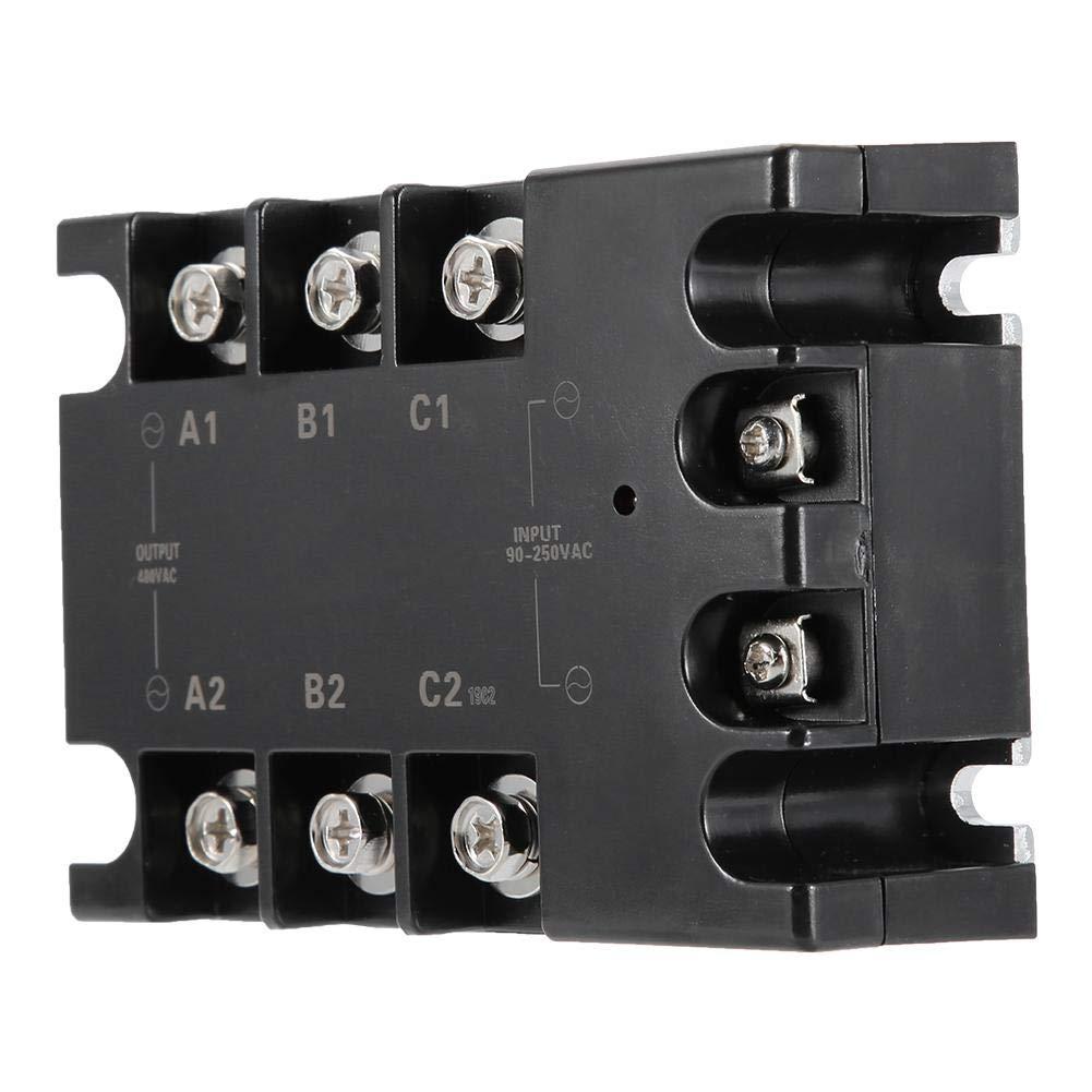 voltaje de entrada de 90-250 VCA 10A Corriente nominal SSR control de maquinaria Rel/é de estado s/ólido Keenso TSR-10AA-H 10A Rel/é de estado s/ólido trif/ásico