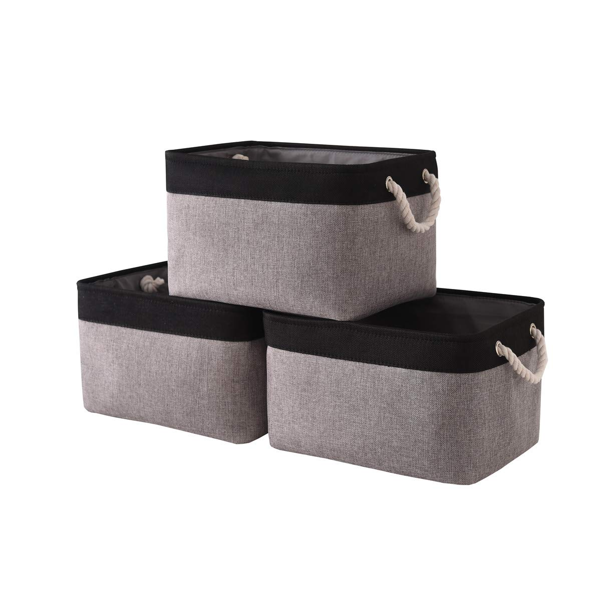 Gifts For Organizers >> Storage Basket Fabric Storage Bins Baskets For Gifts Empty Canvas Storage Baskets Organizers With Rope Handles Dog Toy Basket For Organizing Empty
