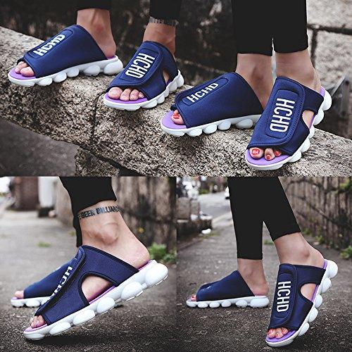 De Nuevas Las 2018 Los Amantes Mujeres Zapatos Verano Planos Velcro Zapatillas Viaje De De Verano Zapatos 41 Zapatos Blue De De De Sandalias Luz Los De De Zapatillas XIwTq