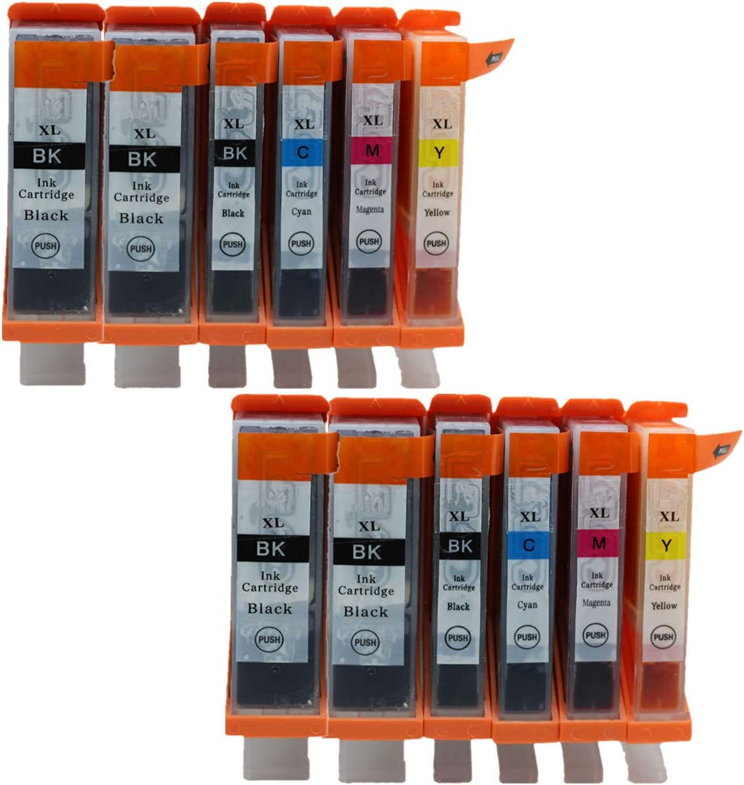 No-name Compatible Ink Cartridge Replacement for Canon PGI-220 CLI-221 PGI-220XL PGI 220 XL PGI220 PGI220XL Pixma MP640 MP640R MP980 MP990 Inkjet Printer 2 Set 5 Color + 2 Black