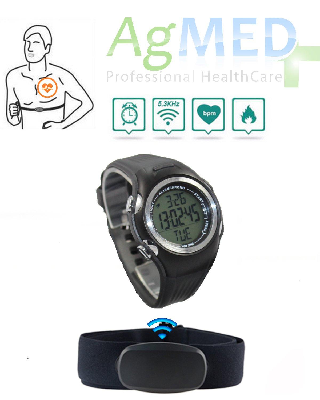 Pulsómetro Reloj De Pulsera Con Banda Sensor de Frecuencia Cardíaca ...