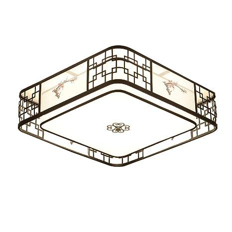 CUICAN Estilo chino Flushmount Lámpara de techo, E27 Paño ...