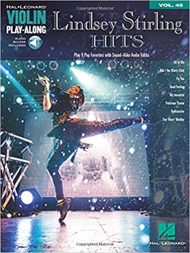 lindsey stirling hits violin play along vol 45 book audio online hal leonard violin play along