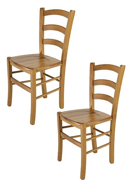 Tommychairs - Set 2 sedie Modello Venice per Cucina e Sala da Pranzo ...
