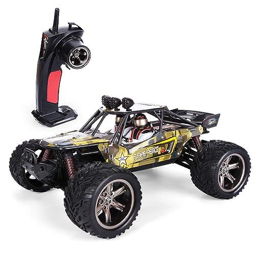 GPTOYS Ferngesteuertes Fahrzeug RC Autos 1:12 Skala 2WD 2.4 GHz 26+MPH Halb-Wasserdicht Monstertruck Geländewagen --- Geschenk für Kinder