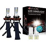 LED Headlight Bulbs Conversion Kit - 4WDKING H13 9008 Fanless Copper Braid Heat Dissipation Super Bright Wrangler High/Low Be