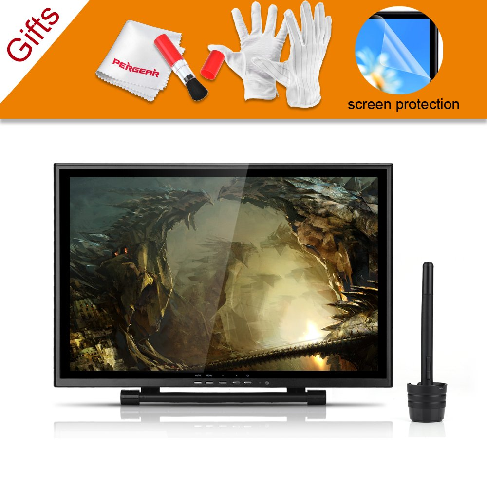 Ugee 19'' Graphics Drawing Pen Tablet Monitor with Screen Protector and Pergear Clean Kit by Ugee