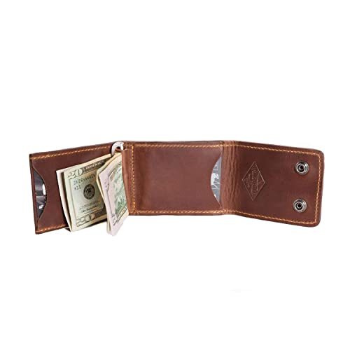 9e71a4caaf7dc Amazon.com  Mens Leather Trifold Wallet