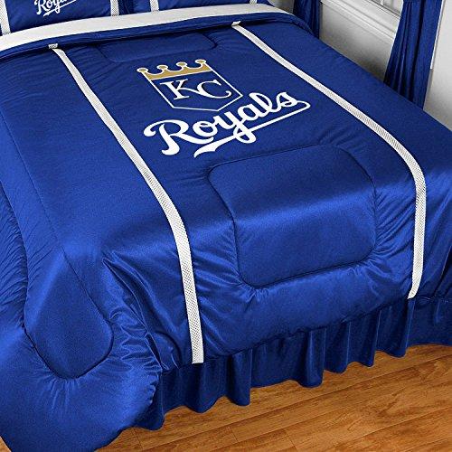 MLB Kansas City Royals Sidelines Comforter, Queen, Bright Blue (Comforter Sideline Queen)
