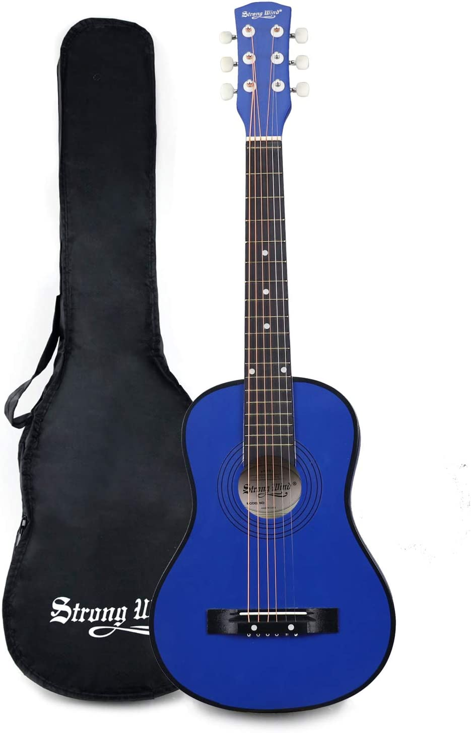30 Inch Acoustic Guitar,1/2 Size Mini Guitars Instrument Beginner Kit for Kids/Beginners/Child with Gig Bag Blue 61J7ouTXI1L