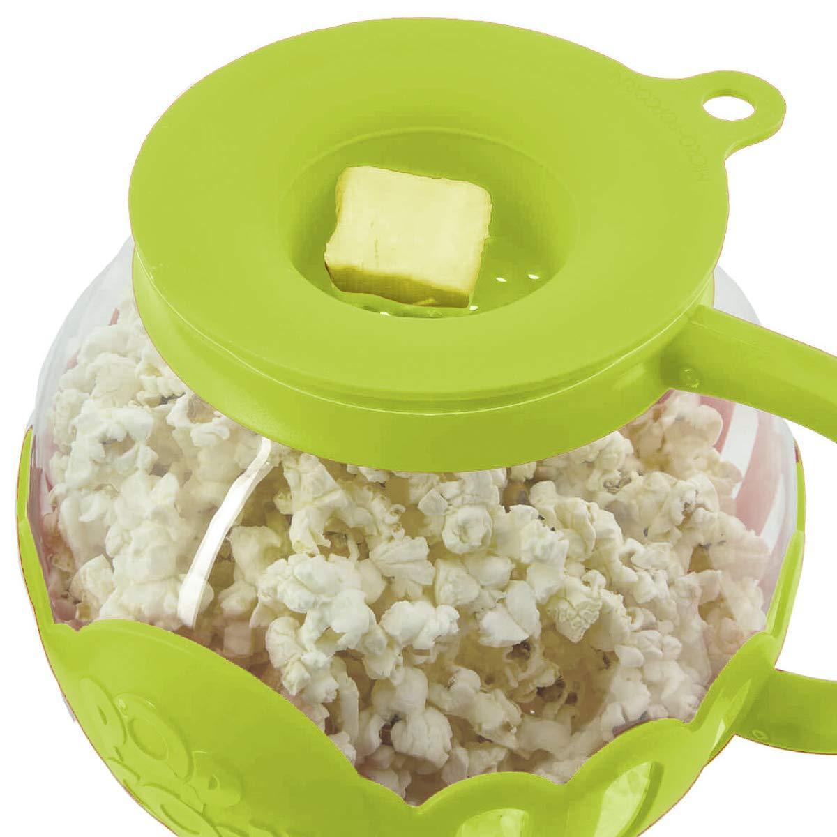 Ecolution 2 Pack Popcorn Maker Glass Microwave Popcorn Popper With Butter Melter For Movie Style Popcorn