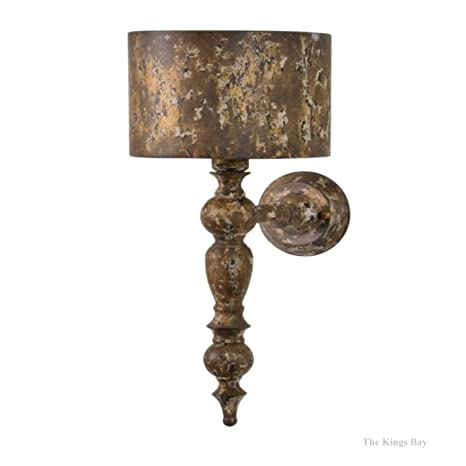Shabby chic wall sconces Vintage Shabby French Country Shabby Chic Table Aged Gold Wall Sconce Light Fixture Amazoncom Amazoncom French Country Shabby Chic Table Aged Gold Wall Sconce Light Fixture