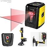 TROTEC - Niveau laser croix BD5A (distance 10 m), autonivelant avec Support multifonctionnel, pince universelle et ventouse intégrée