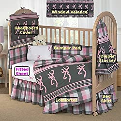 Browning Buckmark Plaid 7 Pc Baby Crib Set - Gift Set, Save By Bundling!