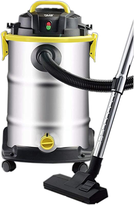 DMS® aspiradora 1800 W Húmedo seca 30 L Aspiradora industrial Aspiradora Acero Inoxidable NTS de 30: Amazon.es: Hogar