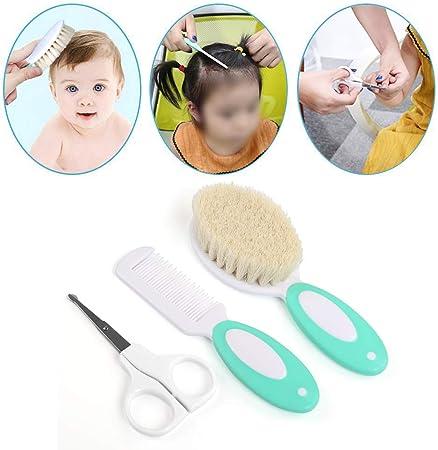 LEADSTAR Set para el Cuidado del Bebé, 8 Unids Cuidado de Aseo Bebé Cuidado Profundo Kit de Cuidado de la Salud Seguro Infantil Enfermera Diaria Herramienta Cepillo de Pelo Tijeras de Uñas