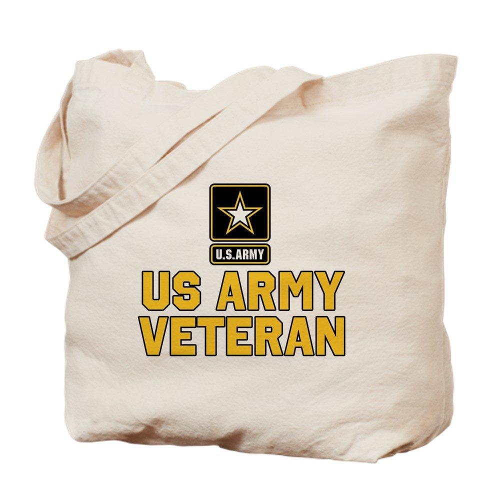 CafePress – US Army Veteran – ナチュラルキャンバストートバッグ、布ショッピングバッグ M ベージュ 0163147973E9484 B07BCRFB7P M