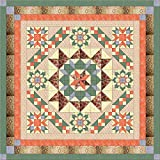 Easy Quilt Kit Hexagon Stars, Scandanavian Hues/Queen