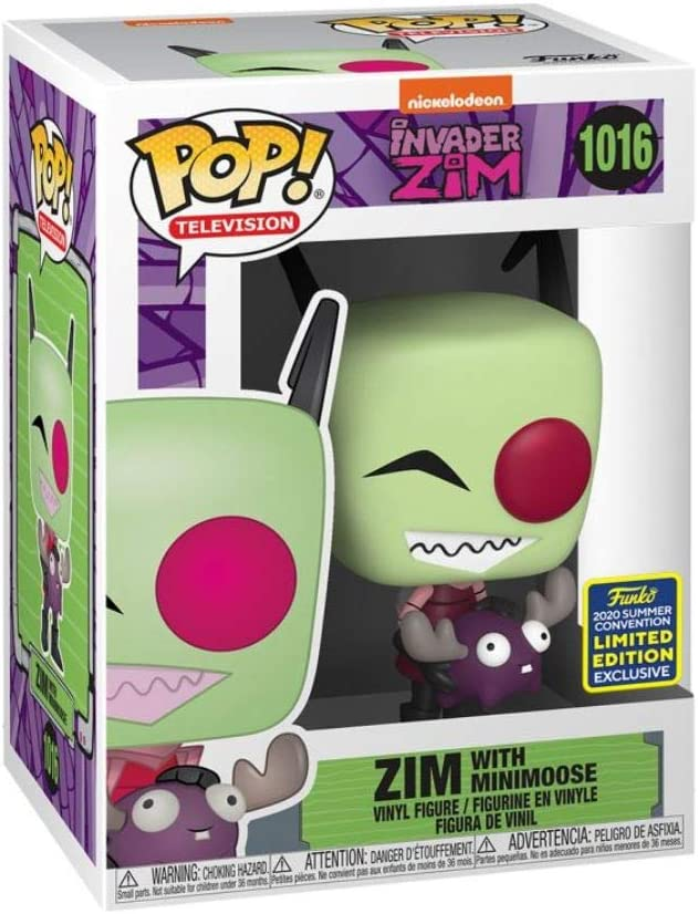 2020 Summer Convention Exclusive Animation #1016 Invader Zim with Minimoose Funko Pop