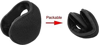 LETHMIK Outdoor Foldable Winter EarMuffs,Unisex Packable Knit Warm Fleece Ear Warmers Cover