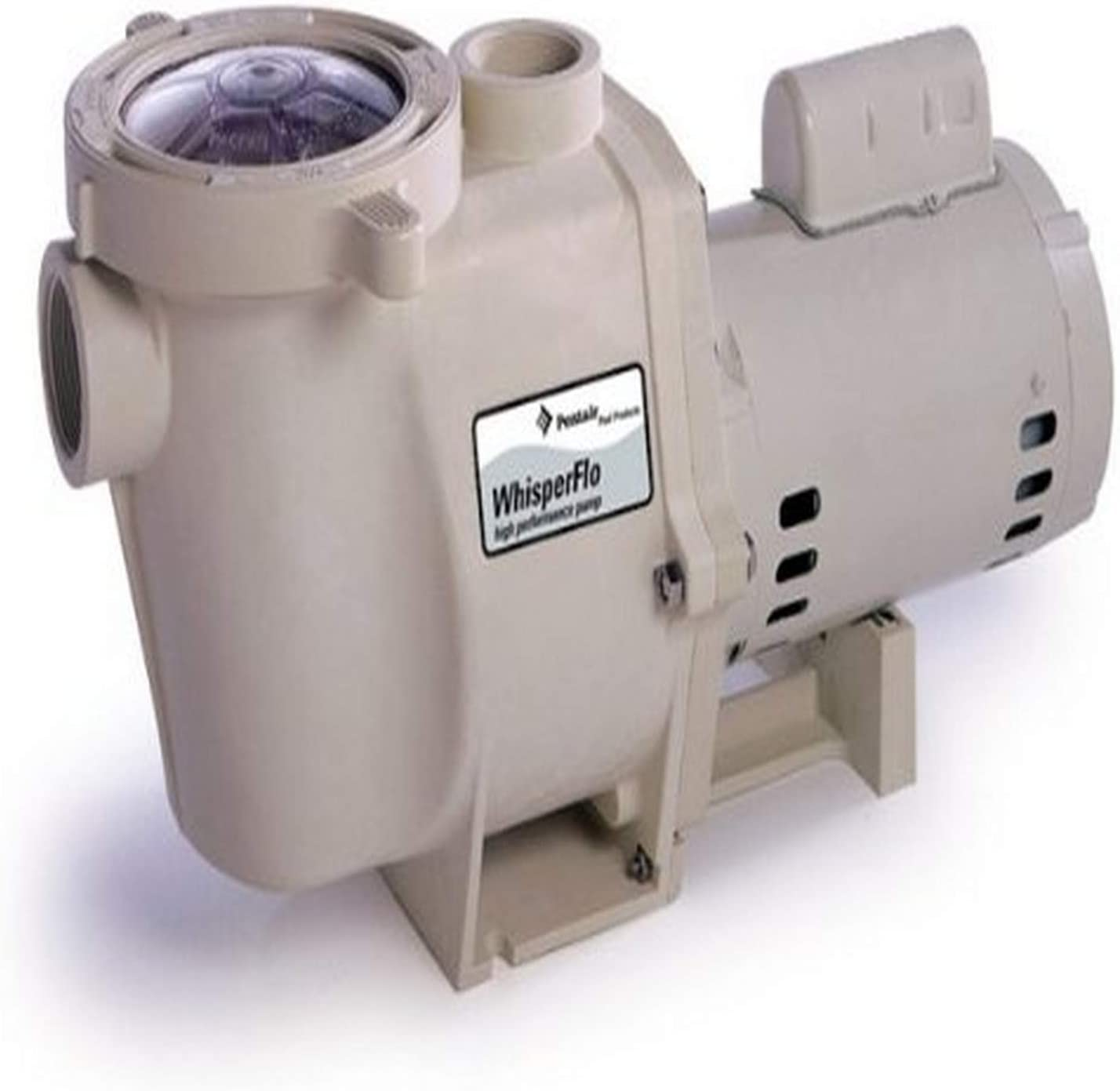 Pentair 011578 WhisperFlo High Performance Standard Efficiency Single Speed Full Rated Pump, 1/2 Horsepower, 115/230 Volt, 1 Phase
