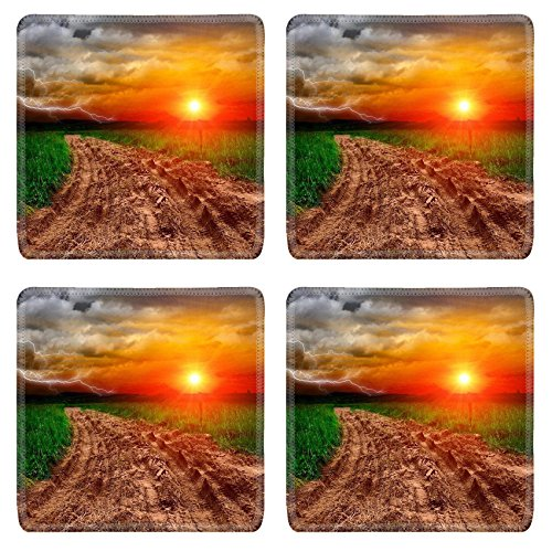msd-natural-rubber-square-coasters-set-of-4-image-of-horizon-rural-meadow-field-landscape