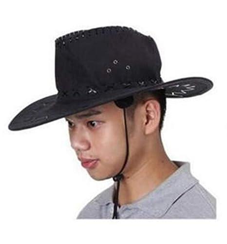 PICCOLI MONELLI Cappello Cowboy Uomo texano Sceriffo Adatto per Carnevale  Colore Nero 323cc4887297