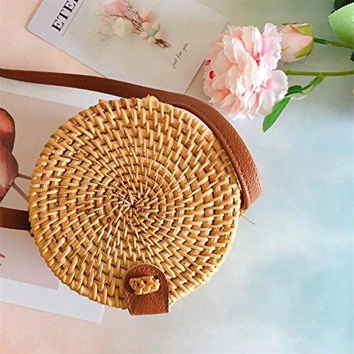 ratán regalo niña Bolsa el de paja para de Design viaje vacaciones mujeres playa mujer de niña diseño bolsa tejida para ideal verano Natural Vintage playa hombro bolsa gx5xPr