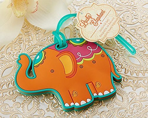 25 Lucky Elephant Luggage Tag by Kateaspen by Kate Aspen