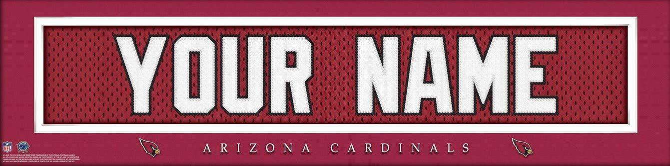 cd5a961ebd18 Arizona Cardinals NFL Jersey Nameplate Wall Print