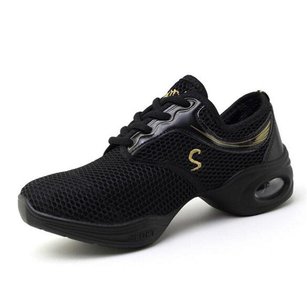 Zapatos ocasionales de las mujeres, zapatillas de deporte Zapatillas de deporte de la danza de las mujeres Zapato deportivo de la zapatilla de deporte del funcionamiento (Color : Negro, tamaño : 39) 39|Negro
