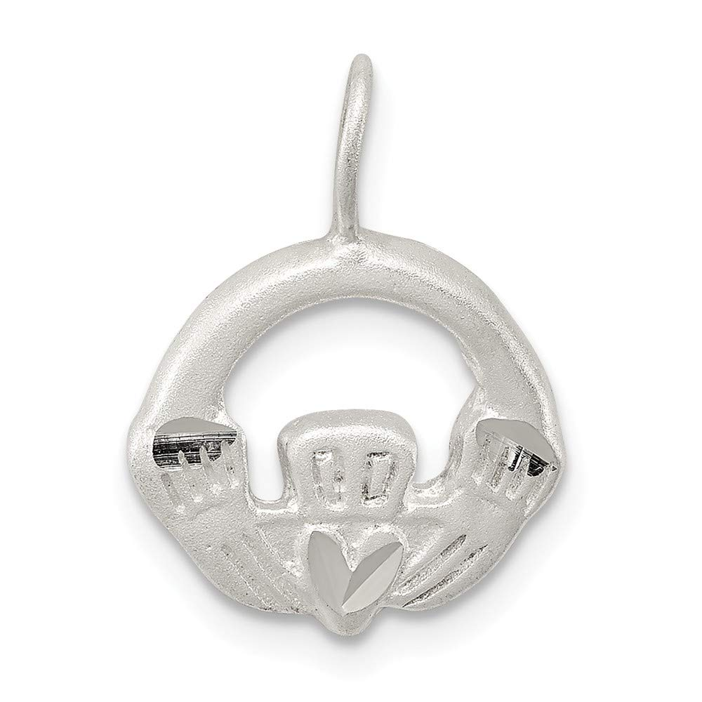FB Jewels Solid 925 Sterling Silver Claddagh Charm