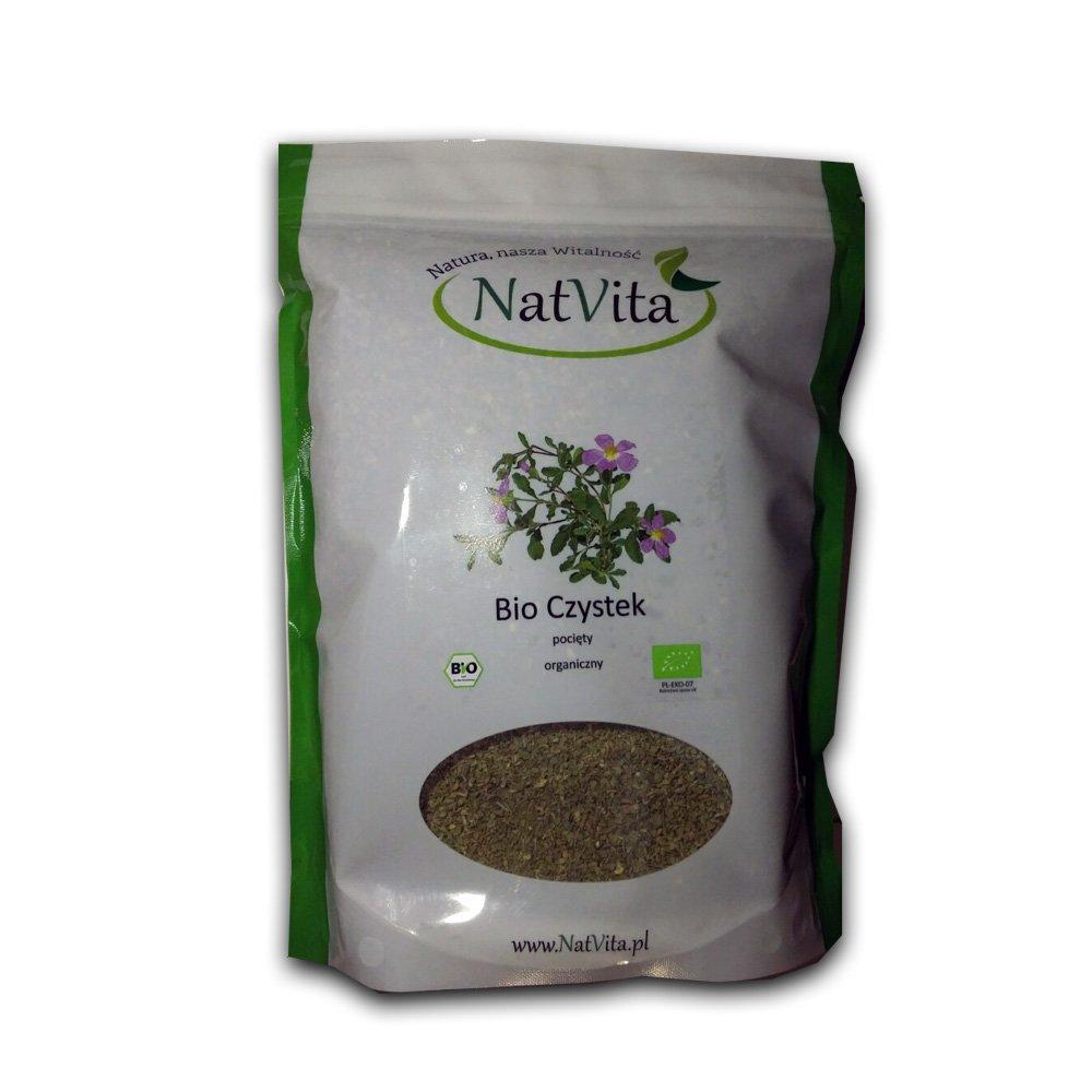 Cistus Incanus 100% Bio Organique Herbs, BIO Certified Czystek 500g 1.1lb