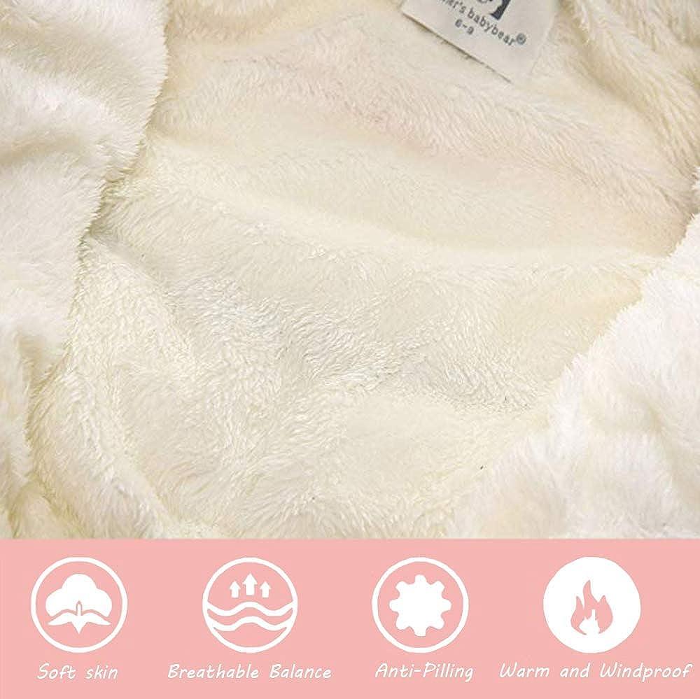 ZHANGXX Neonato Pagliaccetto Invernale Ragazza Ragazzi Tute da Neve con Cappuccio Infantile Un Pezzo Caldo Giubbotto Cappotto