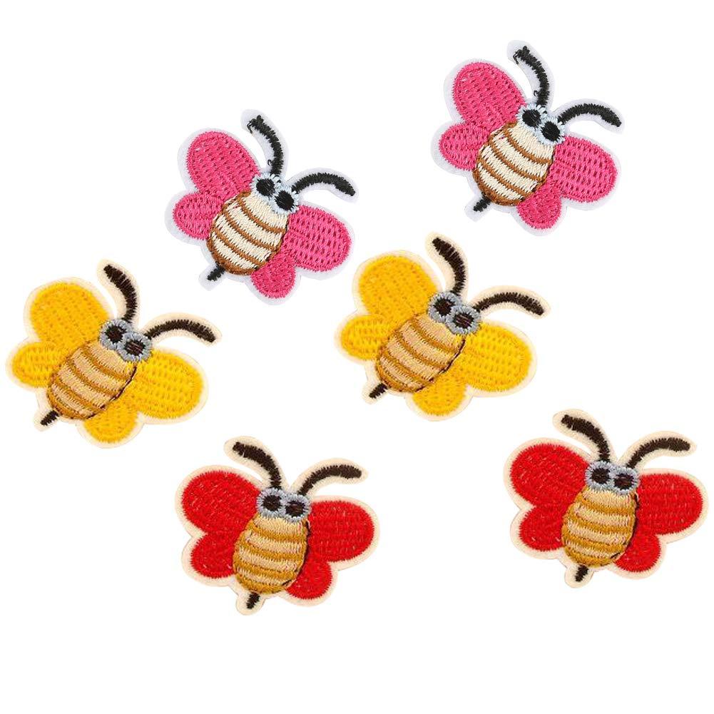 huixun dibujos animados pequeñas abejas parches bordado para coser ...