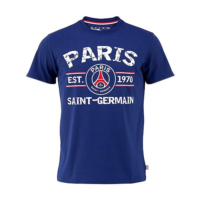 91b14435b99bd Amazon.com: PSG - Official Paris Saint-Germain Kids T-Shirt - Blue ...