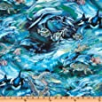 North American Wildlife Swimming Fish Ocean Fabric By The Yard