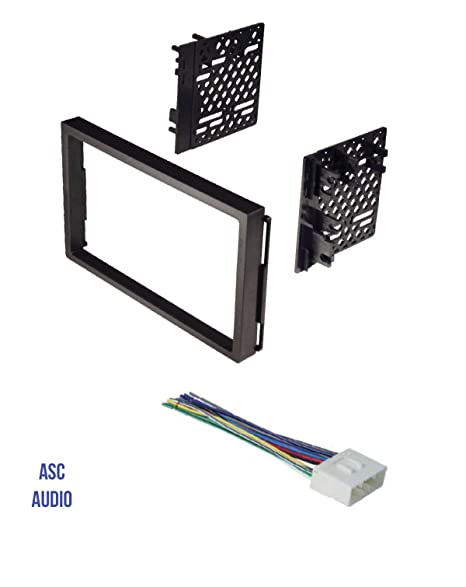 asc double din car stereo install dash kit and wire harness for 04-06  chevrolet