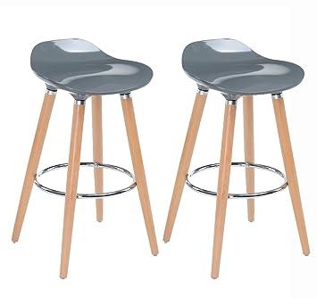Navy Furniture Chaises Jasmine Bar Tabourets Blue 2 Lot Gris De 8knO0Pw