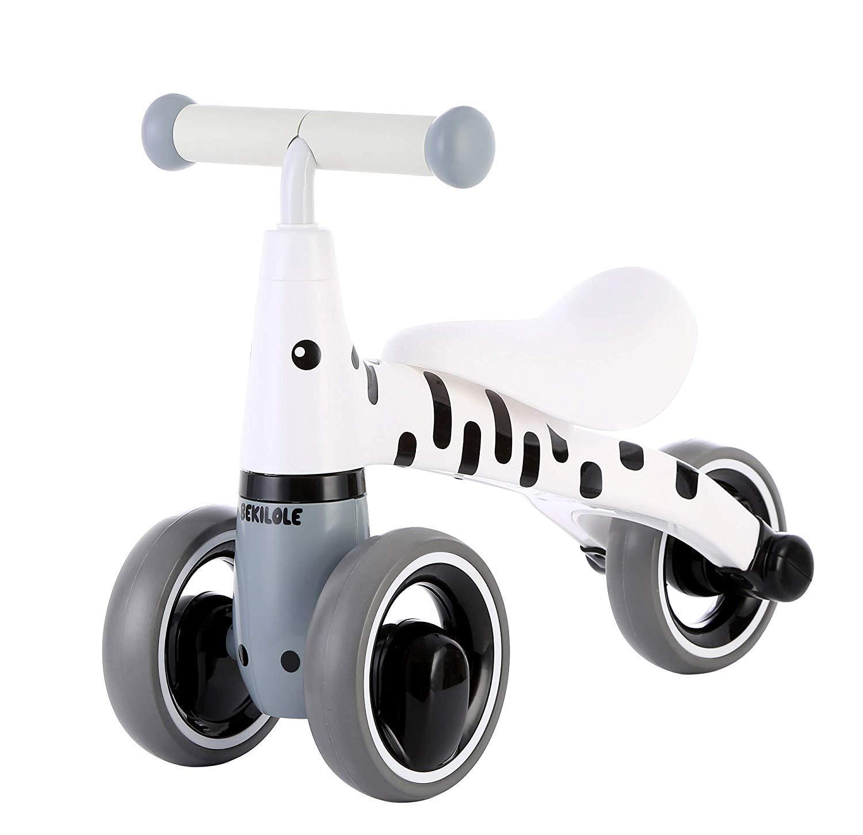 JHDUID Für Kinder Dreirad 1-3 Jahre Baby Baby Walker Rutschen Fahrrad Fahren auf Spielzeug kein Fußpedal,Weiß