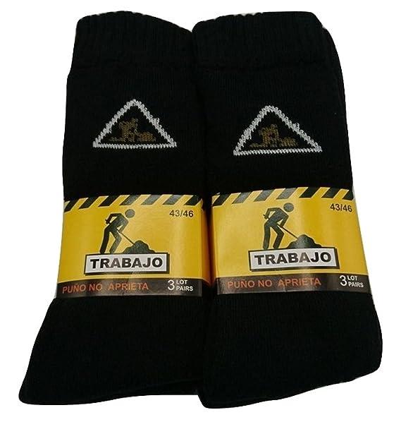 PROMOPACK - 6 PARES - Calcetines TRABAJO Puño antipress Hombre WORKS Socks MAN rilh5Q