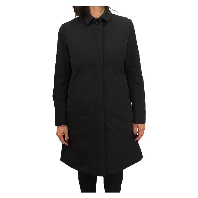 ASPESI Cappotto Donna Nero MOD COLOMBELLA 7N24 7532 53% Cotone 47%  Poliestere Imbottitura THERMORE 100% Poliestere (M-44)  Amazon.it   Abbigliamento 5ff7154cbe7f