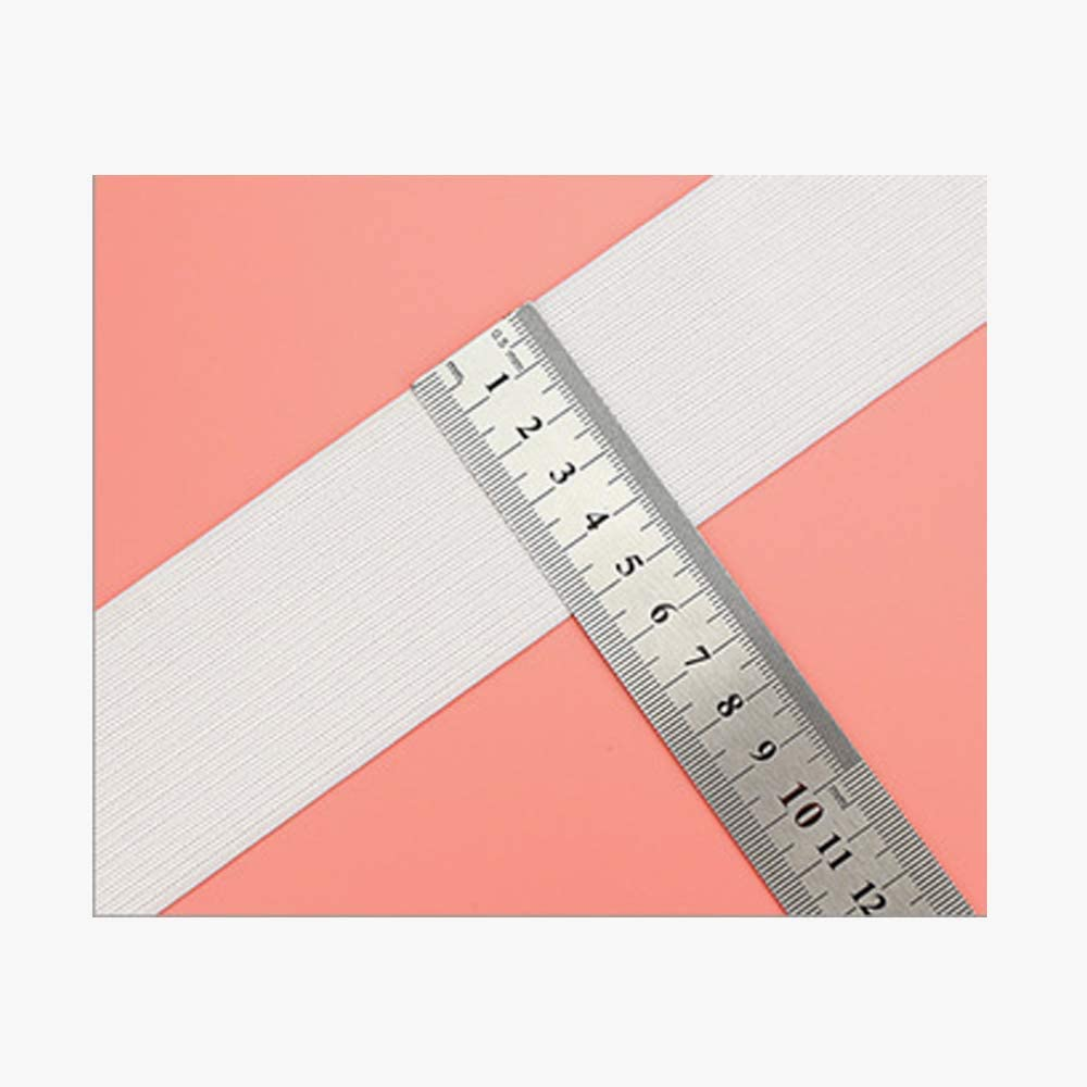 Fascia elastica bianca da 5 metri 40 mm 25 mm Fresh66 per cucito e artigianato 5MX25MM 15 mm 50 mm