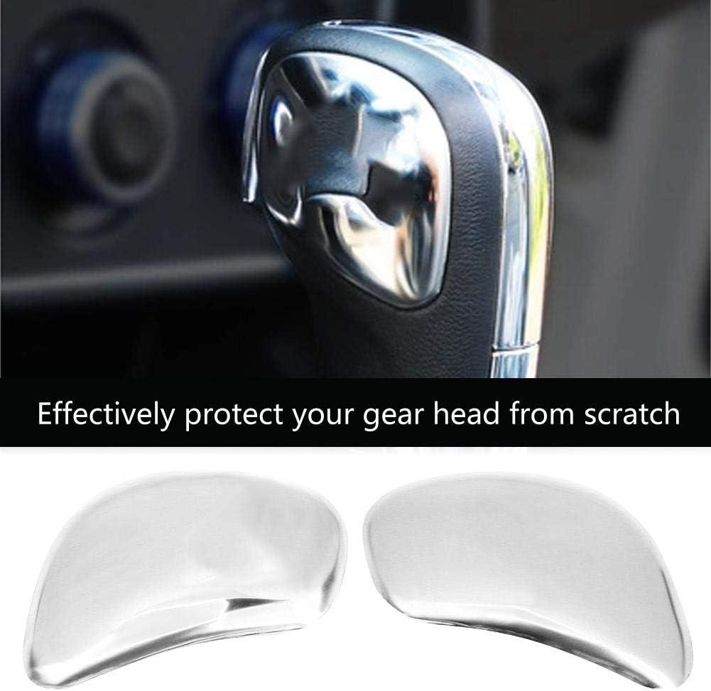 Silver Duokon 2pcs Car Gear Shift Knob Cover Gear Head Sticker for Passat B5 B6 B7 Jetta MK5 MK6