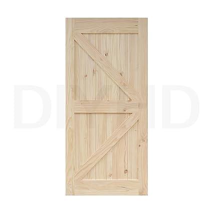 DIYHD 30 In84 In Pine Knotty Sliding Barn Wood Door Slab Two Side Arrow  Shape